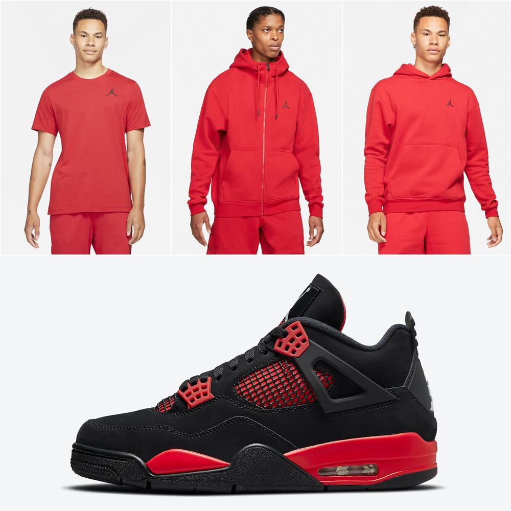 air-jordan-4-red-thunder-matching-apparel