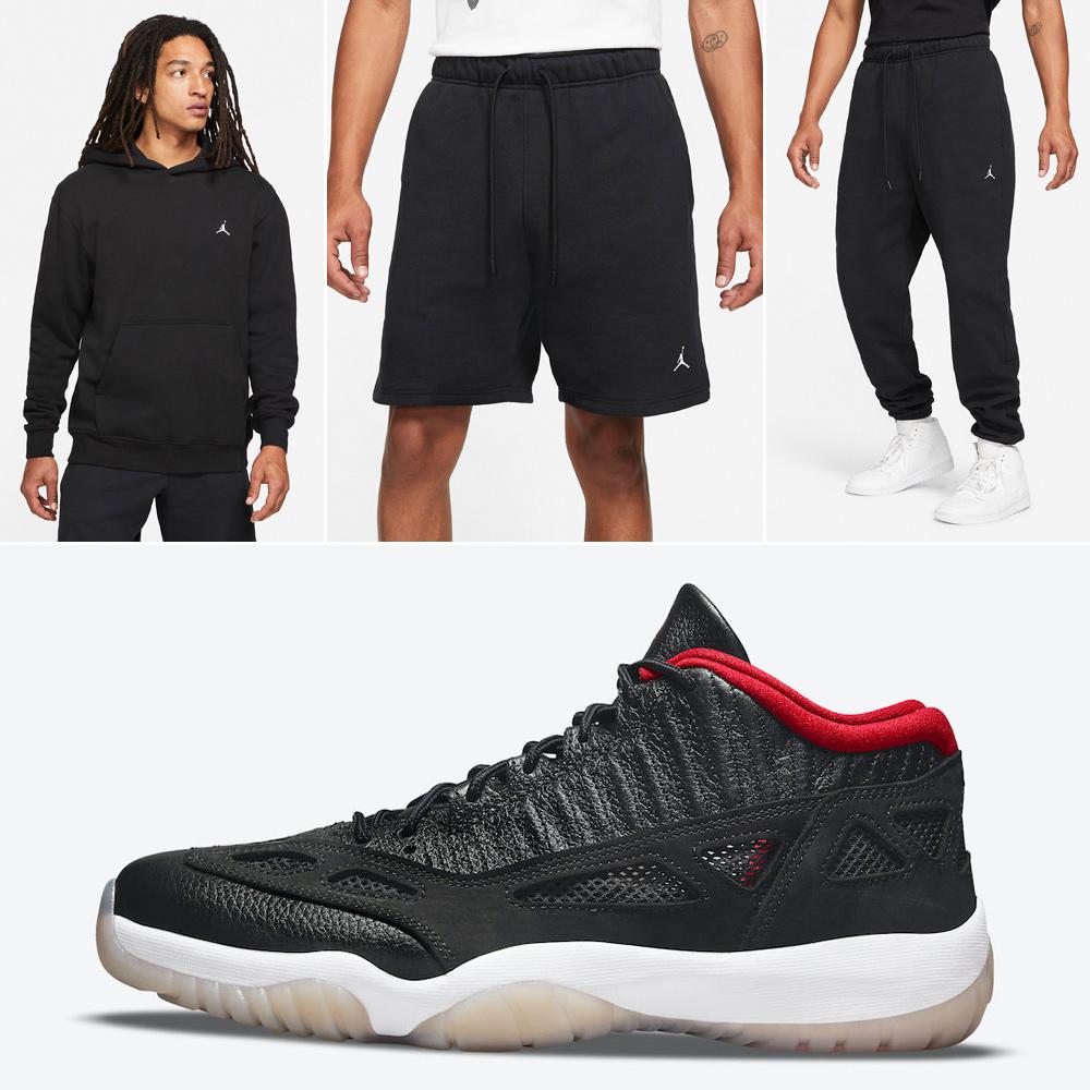 jordan-11-low-ie-bred-hoodie-shorts-pants