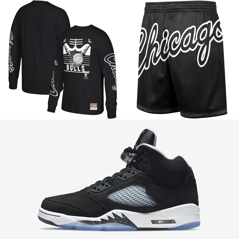 jordan-5-oreo-chicago-bulls-black-white-clothing