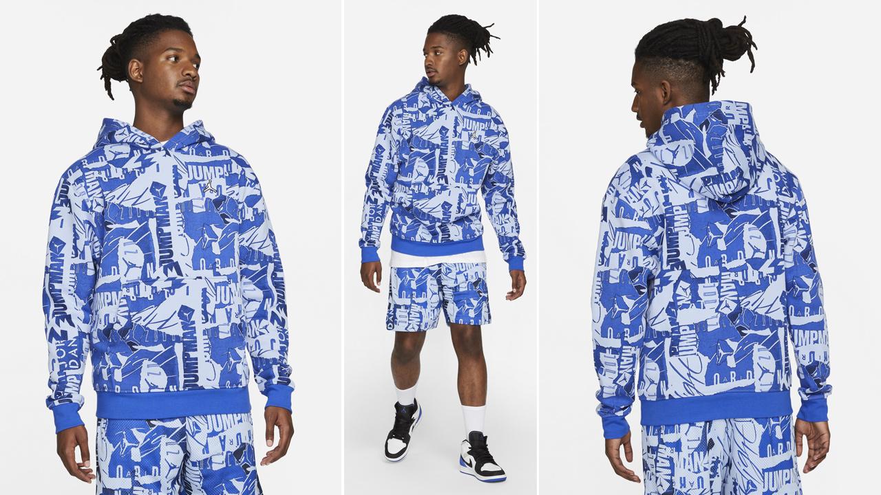 jordan-essential-allover-print-hoodie-shorts-hyper-royal-aluminum