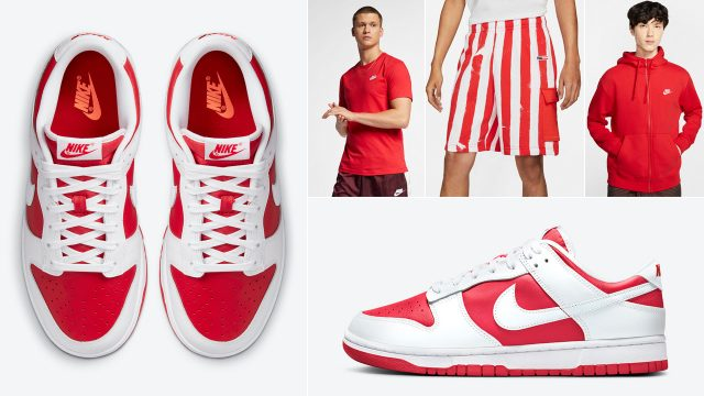 nike-dunk-low-championship-red-shirts-clothing-outfits