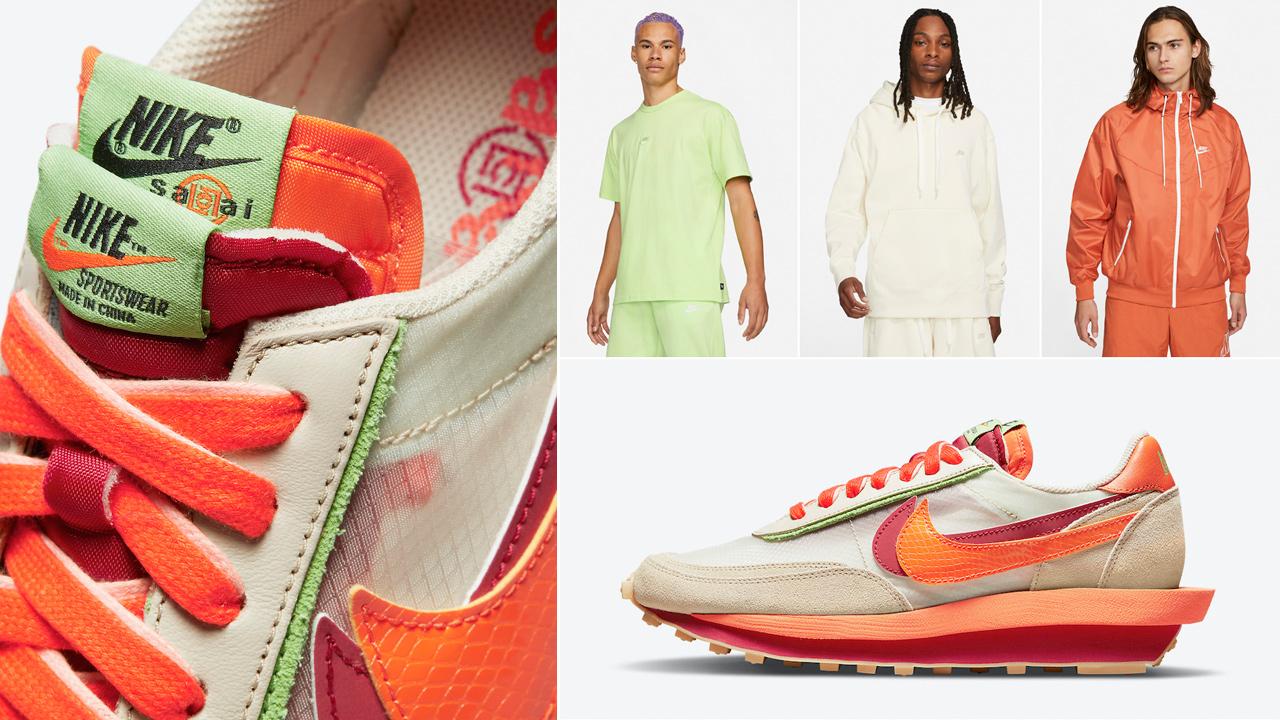 nike-ldwaffle-sacai-clot-orange-blaze-shirts-clothing-outfits