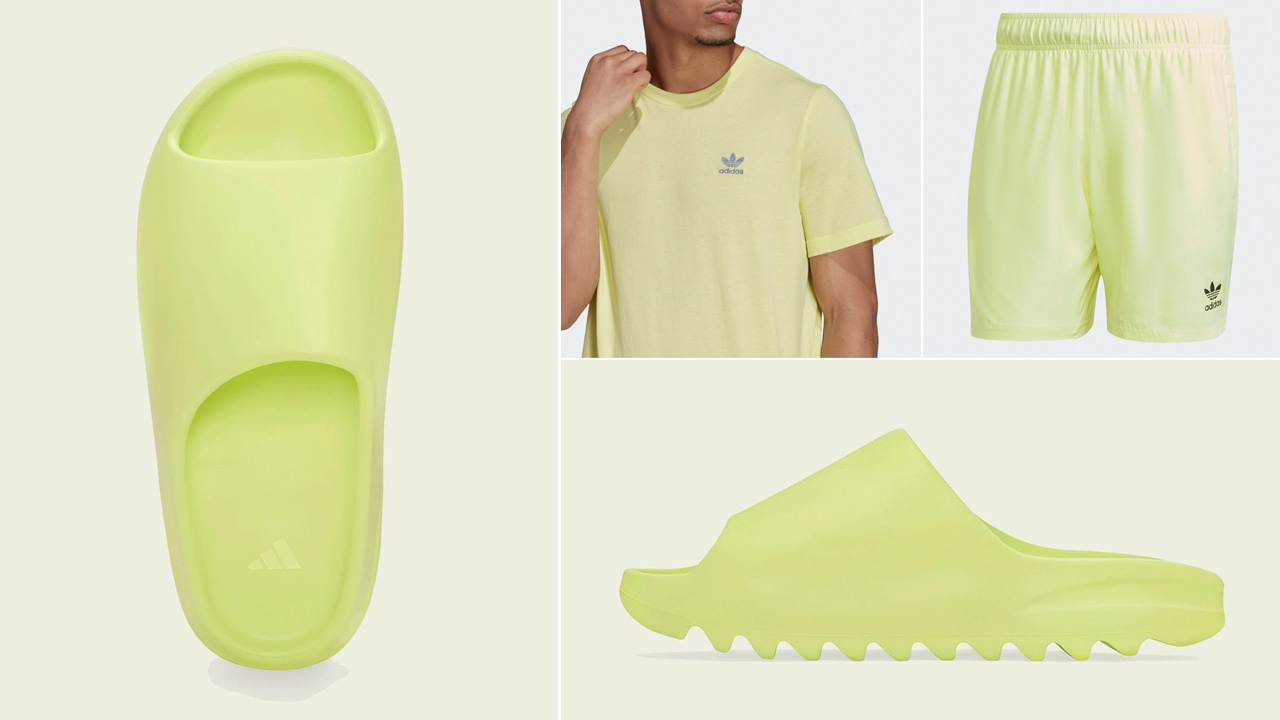 yeezy-slide-glow-green-shirt-clothing-outfits