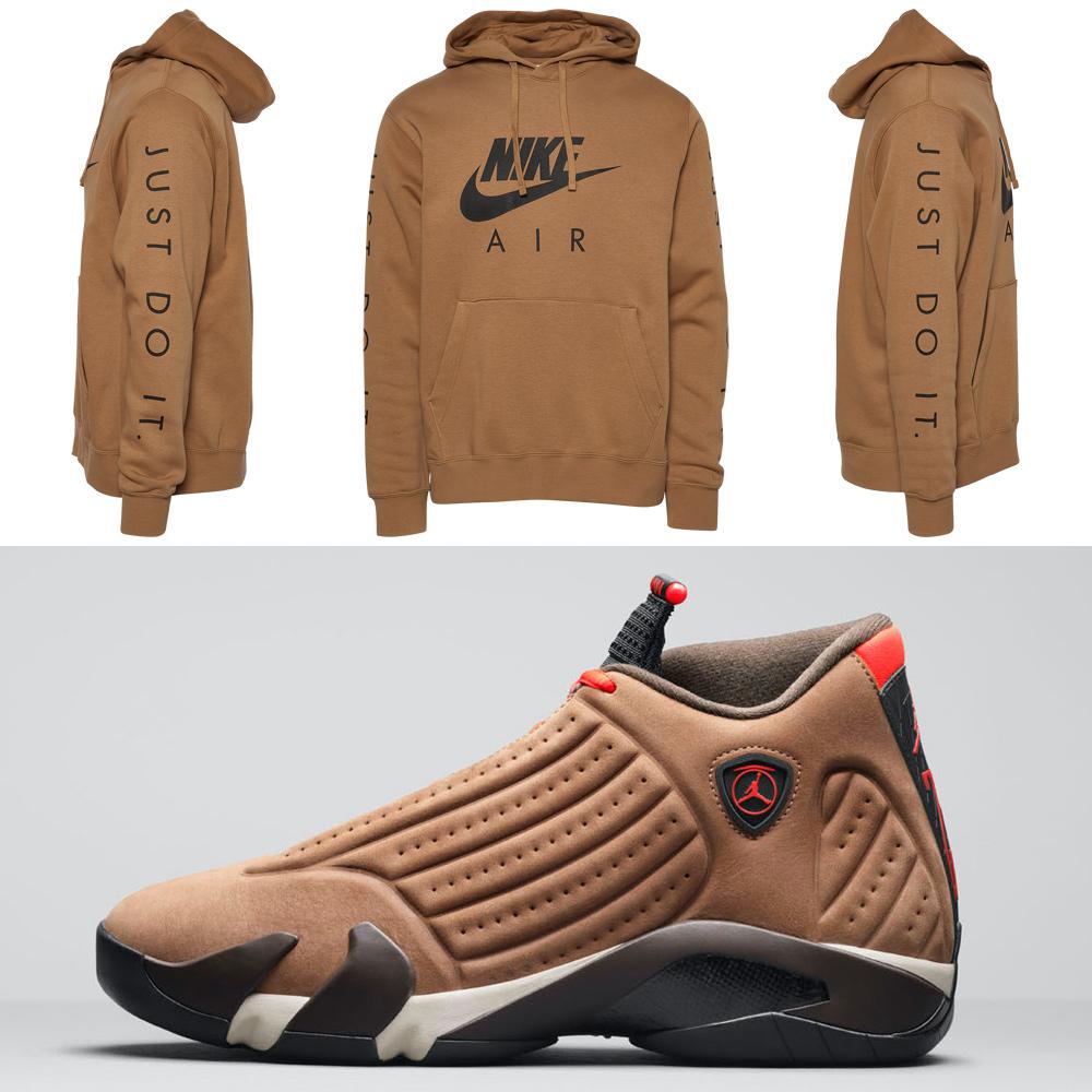 jordan-14-winterized-brown-hoodie-match