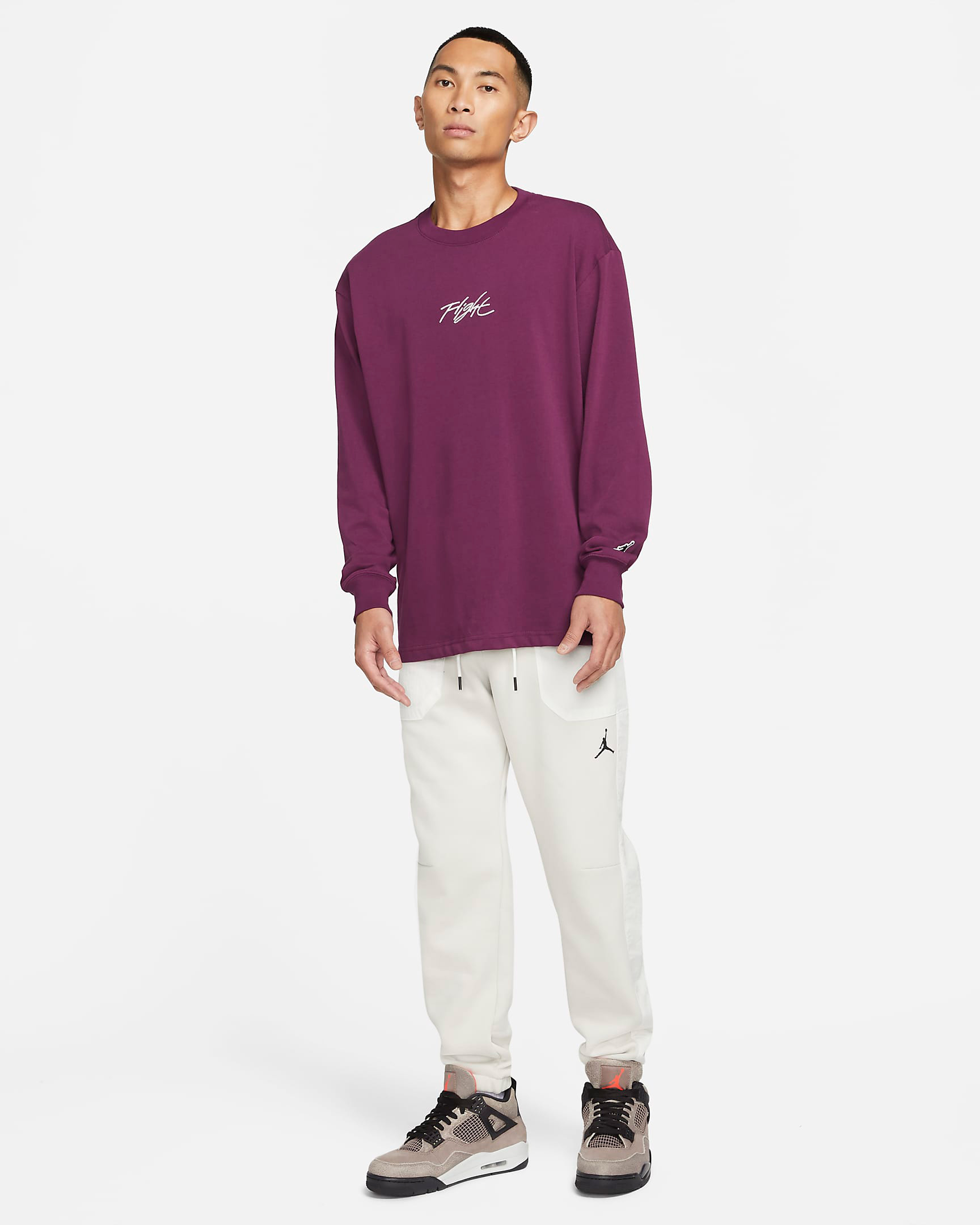 jordan-bordeaux-flight-essentials-long-sleeve-shirt-outfit