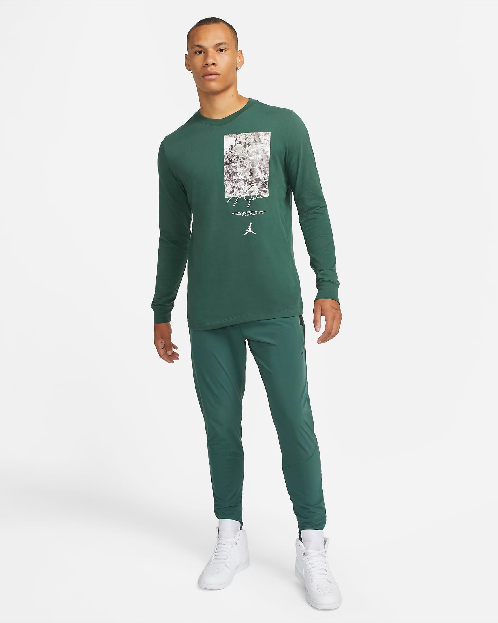 jordan-noble-green-air-statetment-pants-shirt-outfit