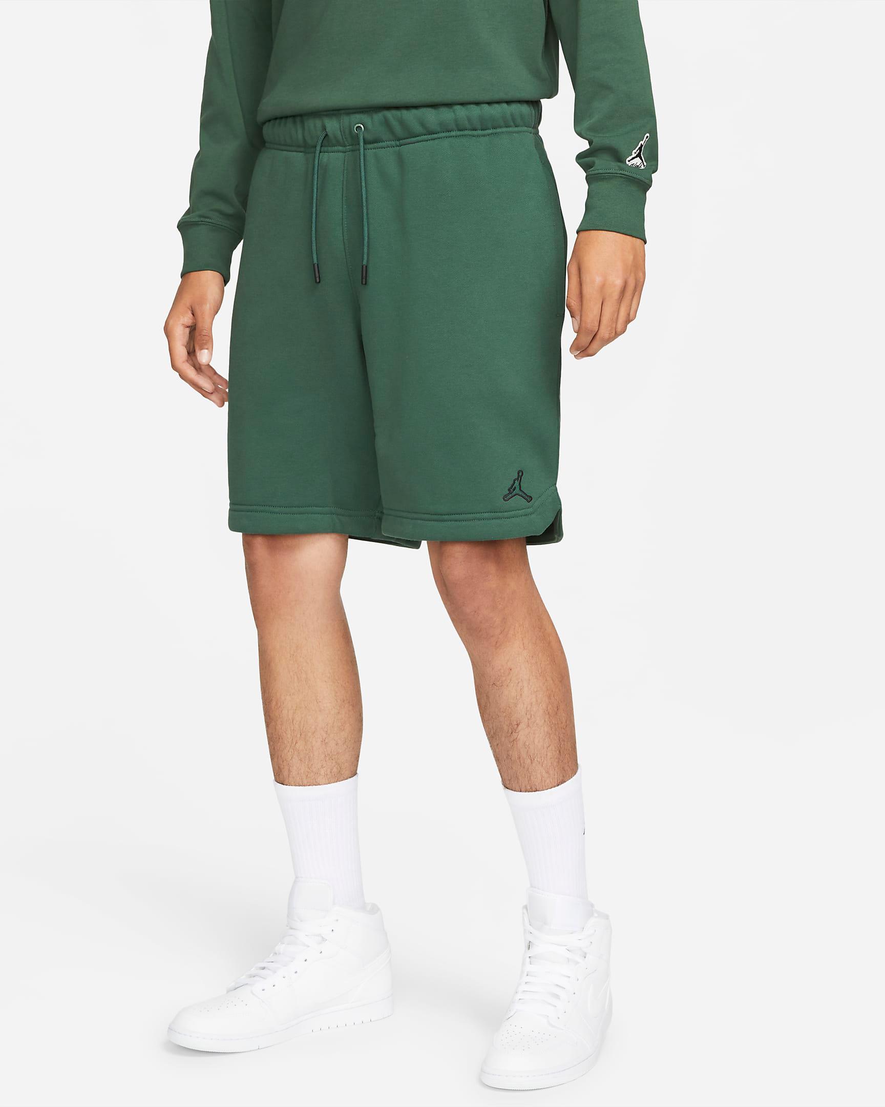 jordan-noble-green-essentials-fleece-shorts-1