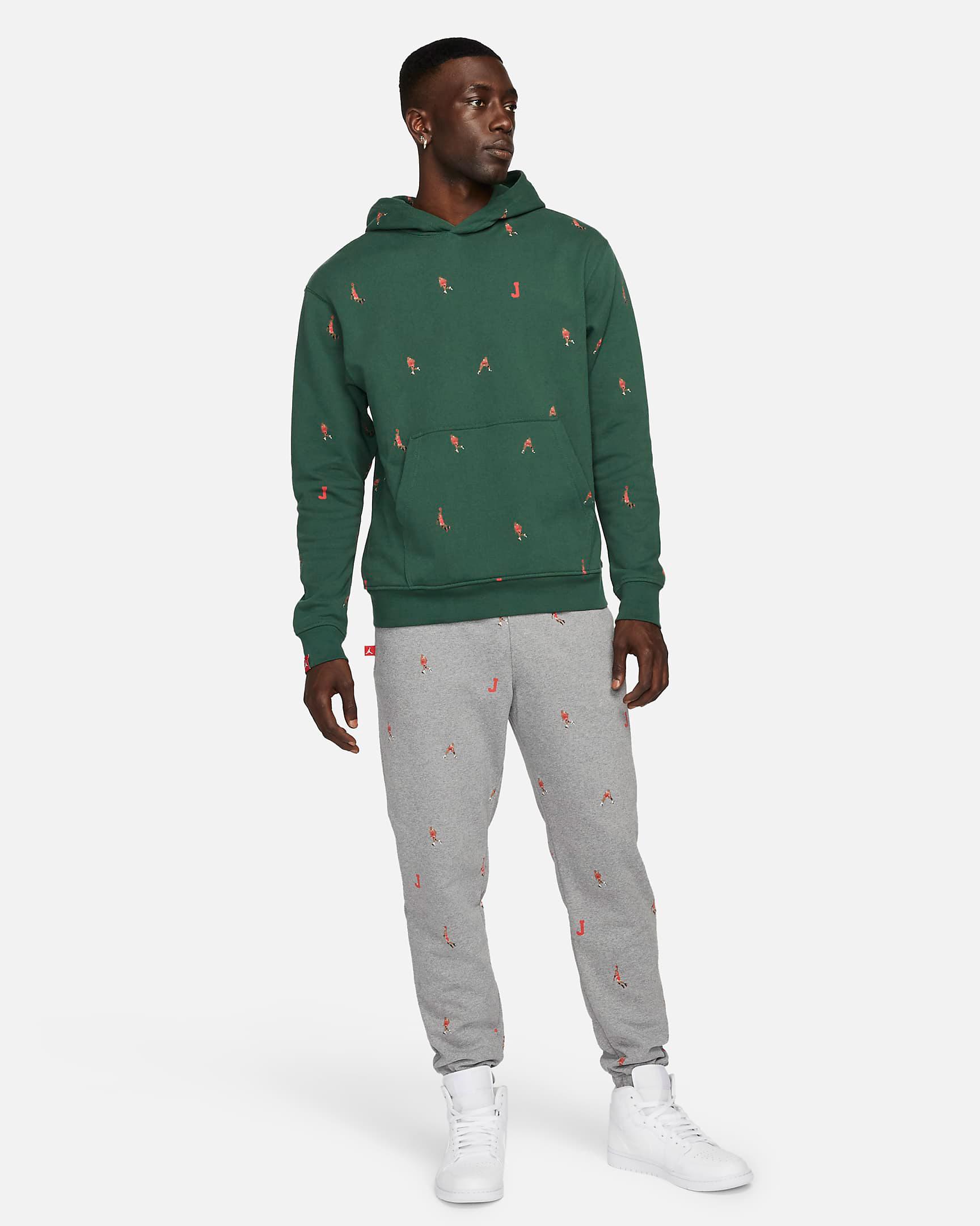 jordan-noble-green-essentials-printed-hoodie-pants-outfit