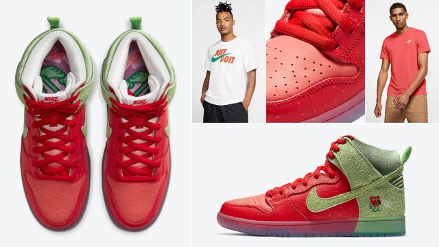 nike sb dunk high strawberry cough sneaker outfits 640x360